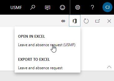 Open in Excel