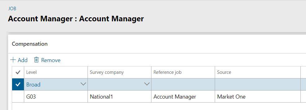 Compensation on job screenshot