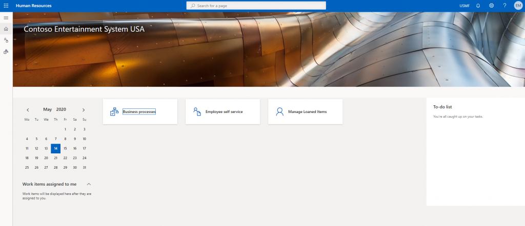 Default dashboard screenshot